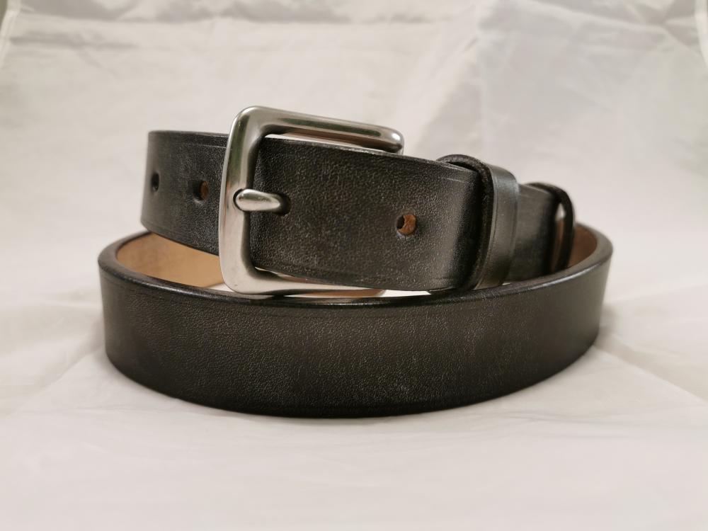 Classic Belt in Baker's Black Leather, 1¼ inch wide