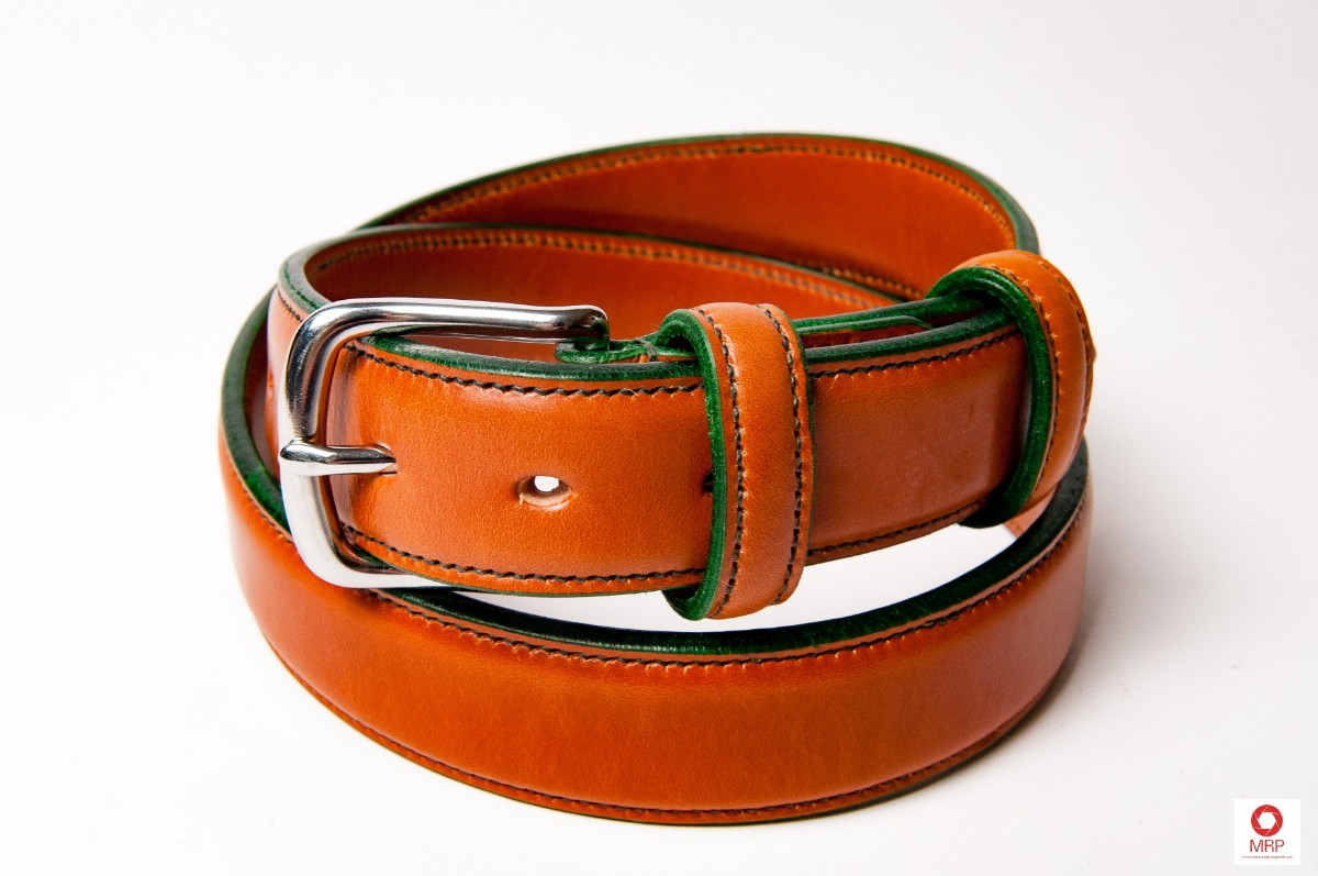 Raised Belts; 3, thinned layers of our best handstitched leather