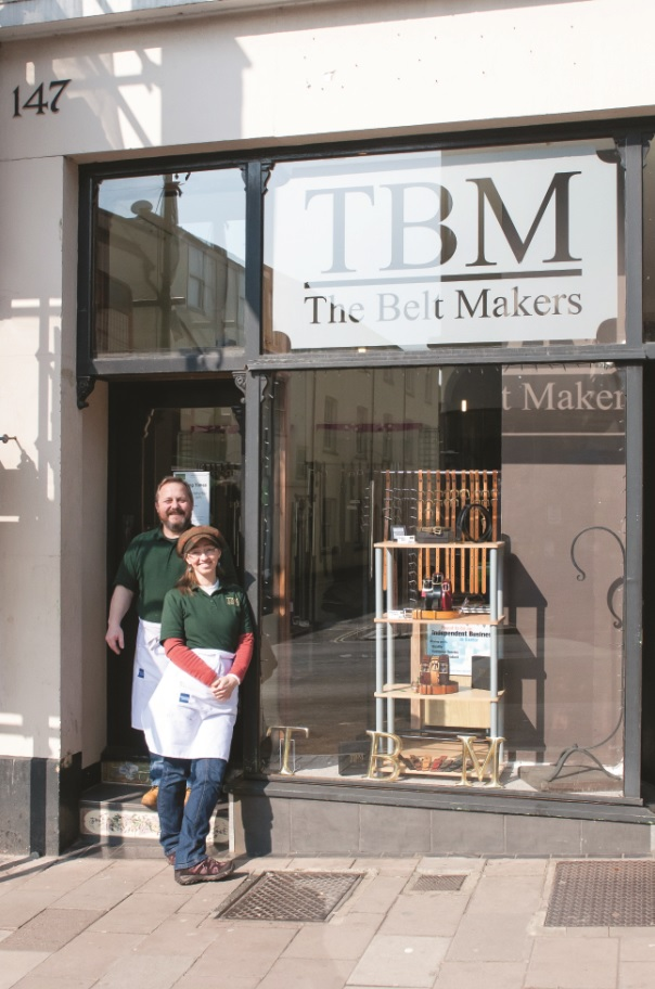 Mark and Marie Buckfield outside their Exeter shop